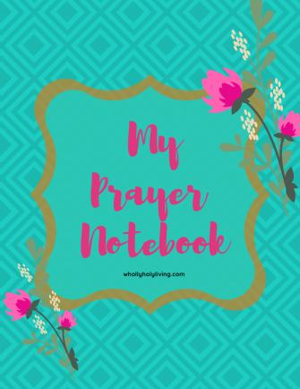 my prayer notebook cover
